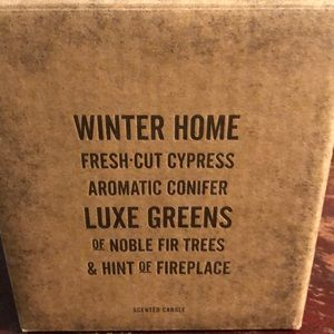 Restoration Hardware Winter Home Candle New in Box
